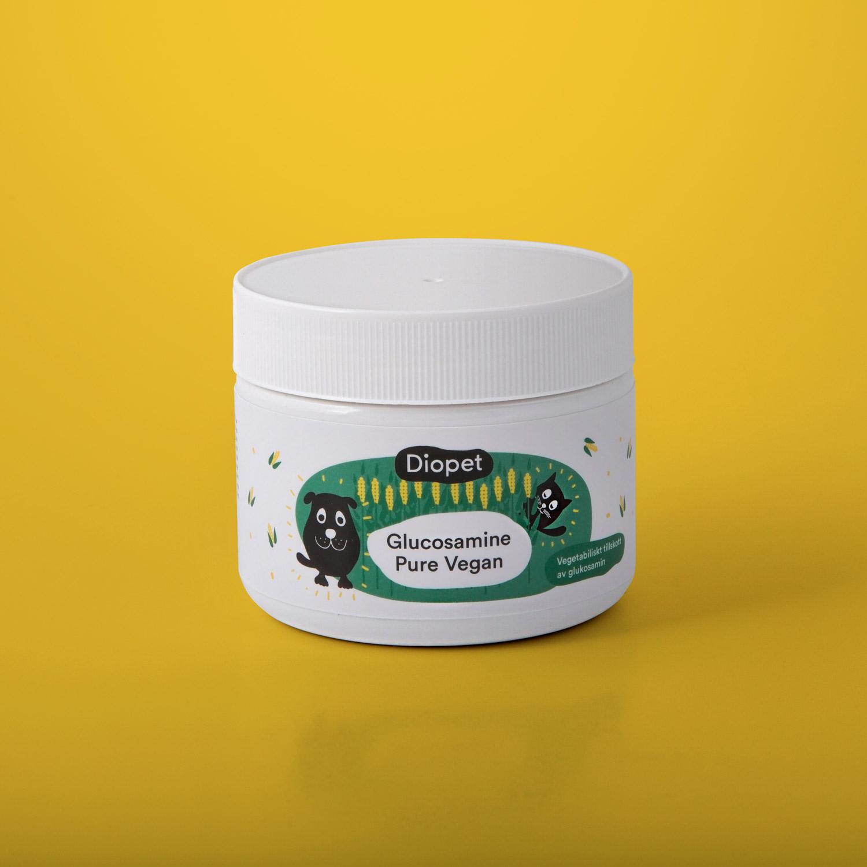 Glucosamine Pure Vegan, bra för hundens och kattens leder, brosk och ledvätska