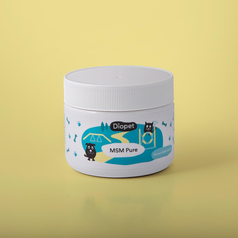 MSM Pure för din hund och katt, bra för leder, muskler och mot smärta i leder och muskler